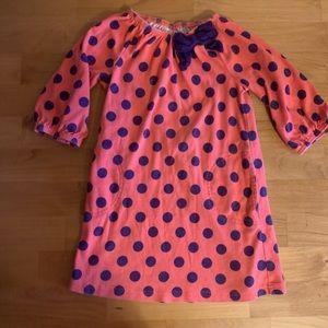 Gymboree girls dress 5 polka dots pink purple